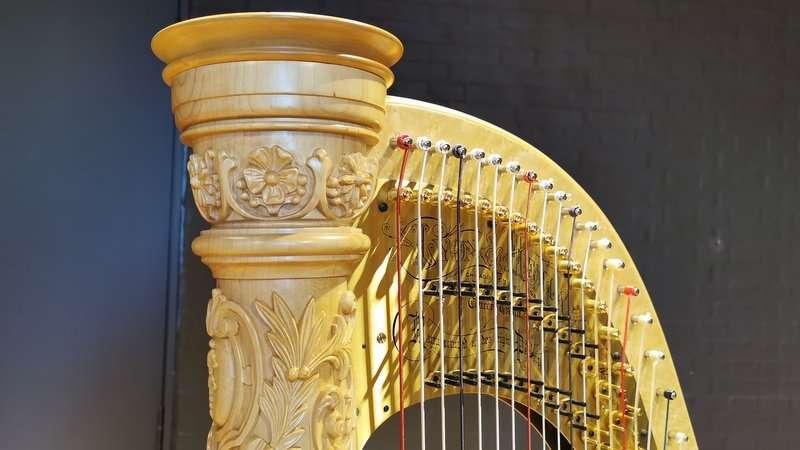 Toppen af en harpe, foto: Svend Melbye
