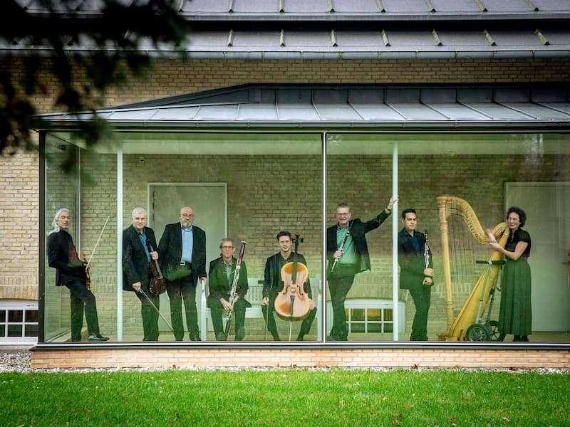 Ensemble Storstrøm i glasgangen, foto: Ingrid Riis