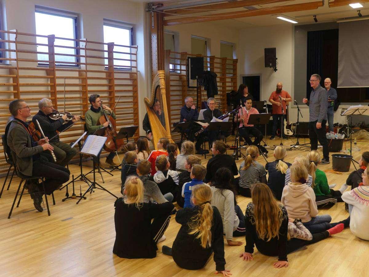 Projekt med Lolland Musikskole, foto: Bjørn Meldgaard