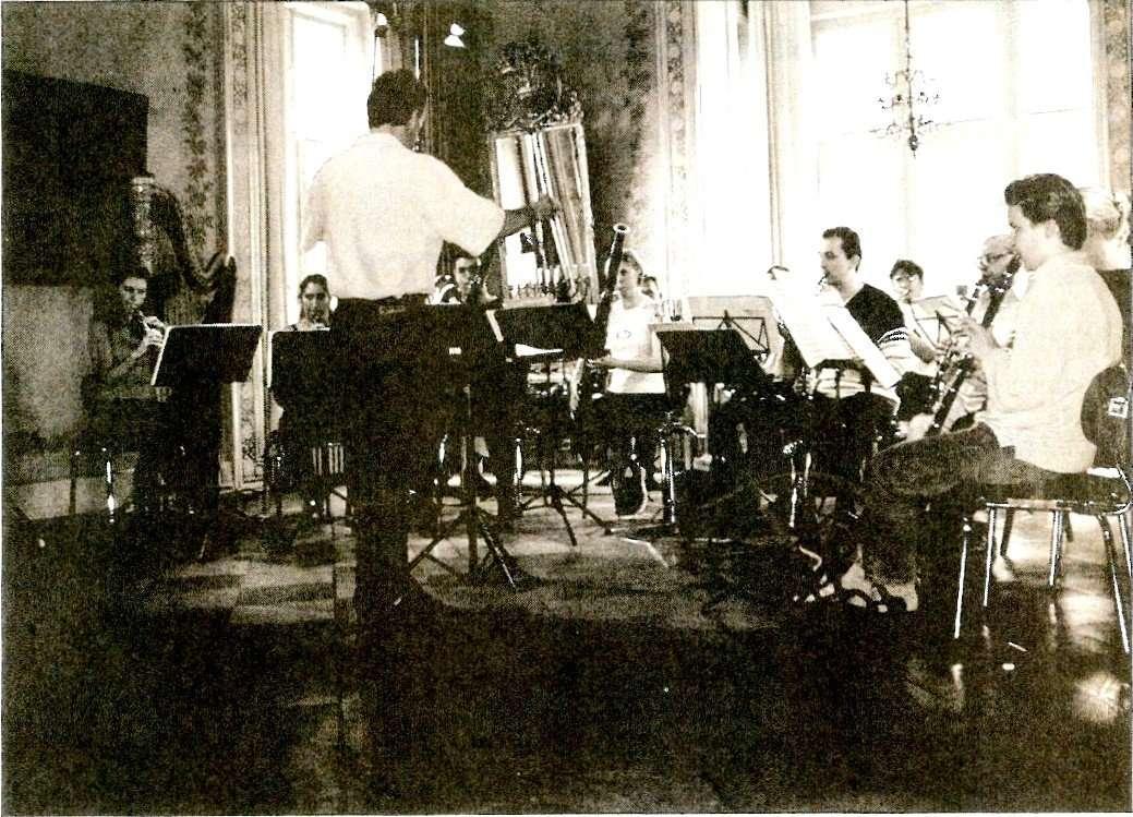 Prøve i musiksalen, foto: Finn Hansen