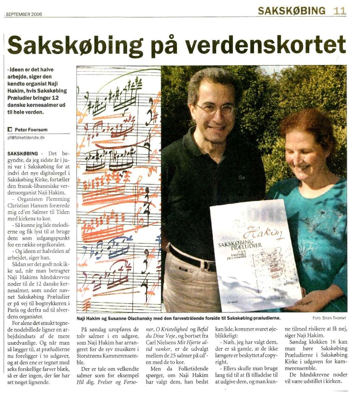 Artikel fra Folketidende, september 2006
