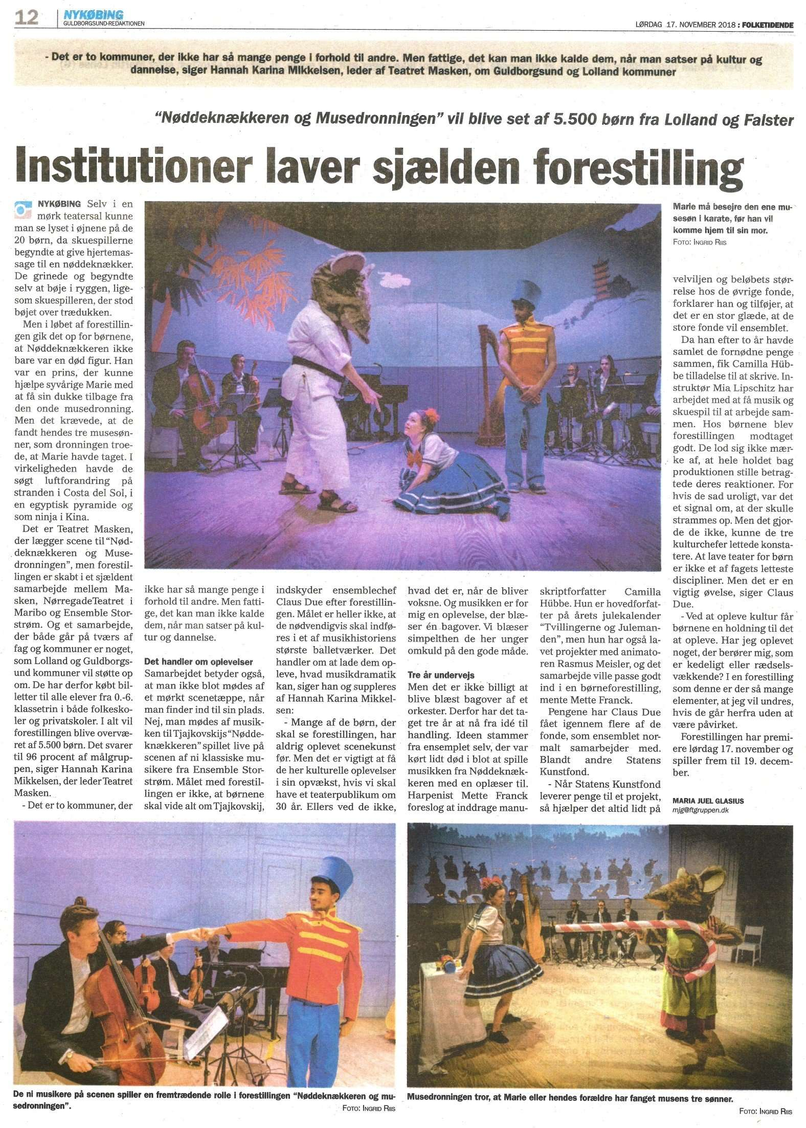 Artikel i Folketiden, nov. 2018