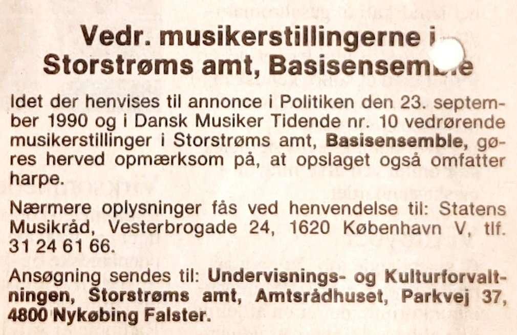 Stillingsopslag 1990
