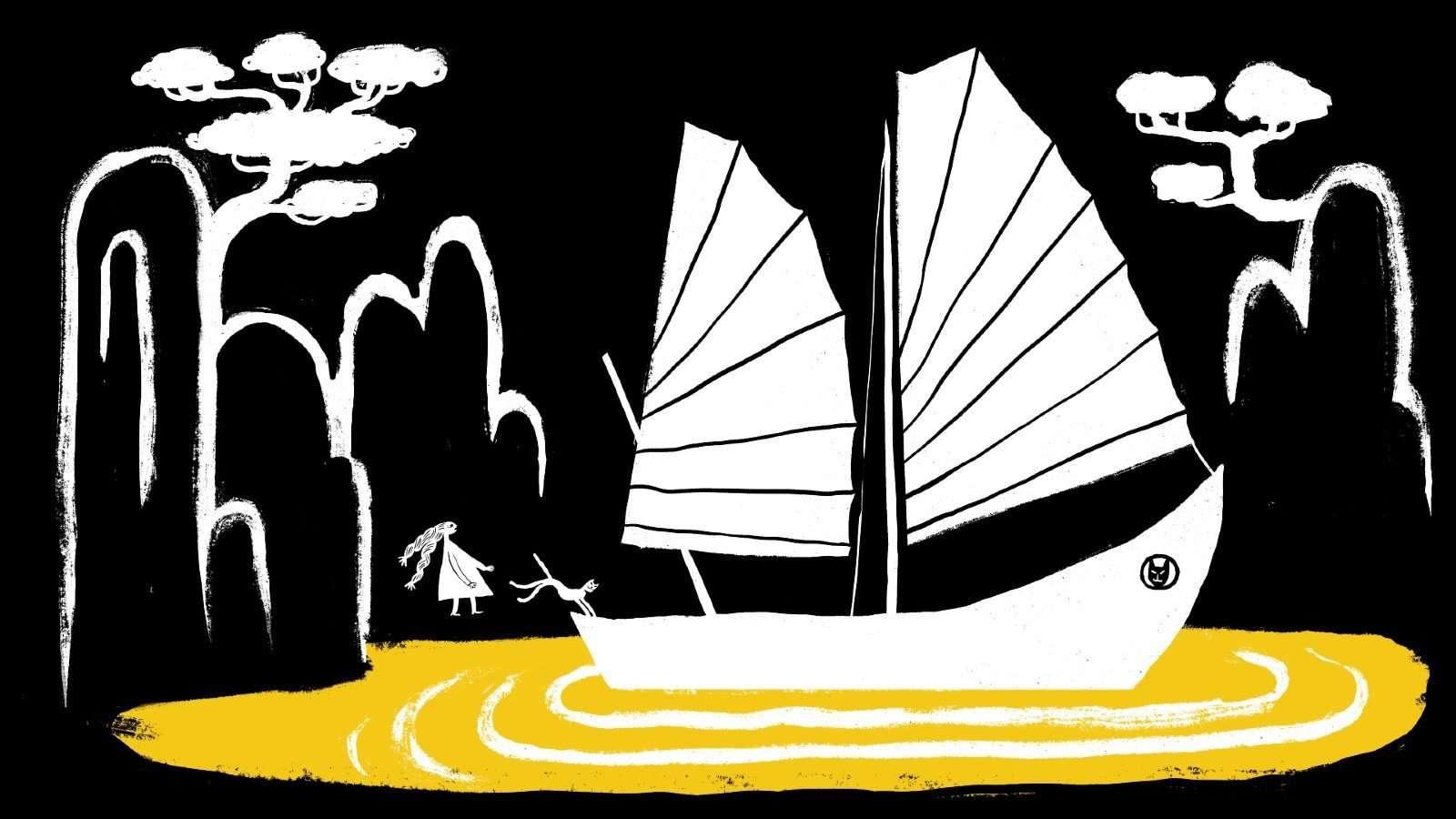 Lille og Lykkekatten, illustration: Simon Væth